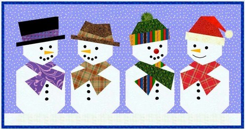 Snowman-Paper-Pieced-Quilt-Block-Pattern